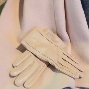 Accessories - Blush leather gloves. Size 8.5